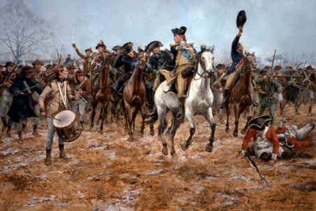 George Washington leads his men at the battle of Princeton, January 3, 1777 by Don Toiani Copyright © Don Troiani All Rights Reserved