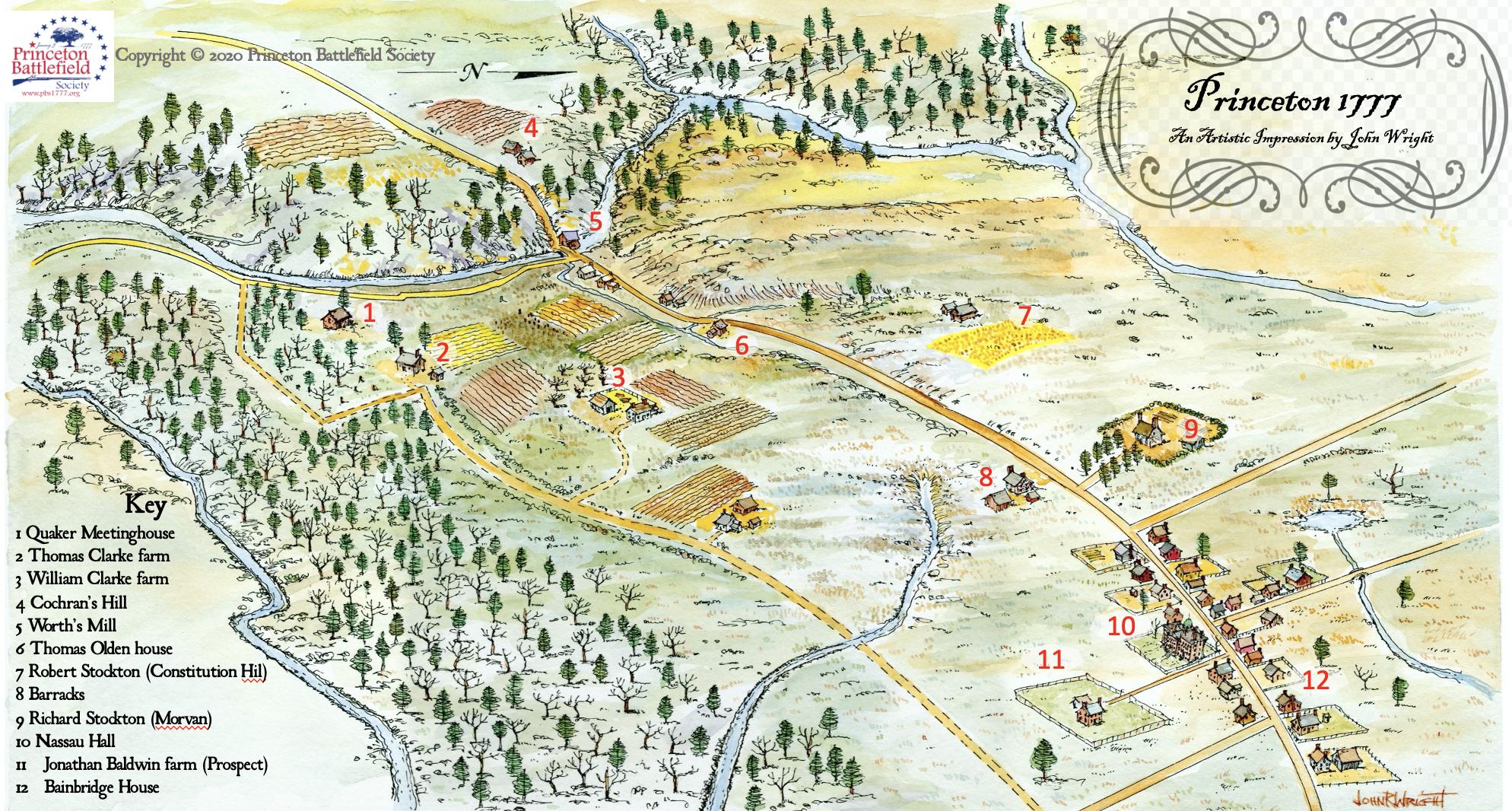 John Wright Map Princeton 1777